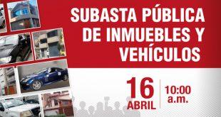 PRONABI subastará 15 lotes de inmuebles y 14 lotes de vehículos incautados