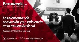 Los elementos de convicción y su suficiencia en la acusación fiscal (Casación N° 760-2016La Libertad)