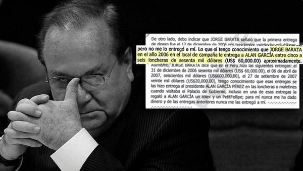 Luis Nava confesó que Odebrecht entregó dinero a Alan García Pérez
